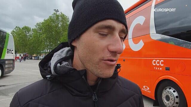 Łukasz Owsian podsumował 200 km ucieczki na 2. etapie Giro