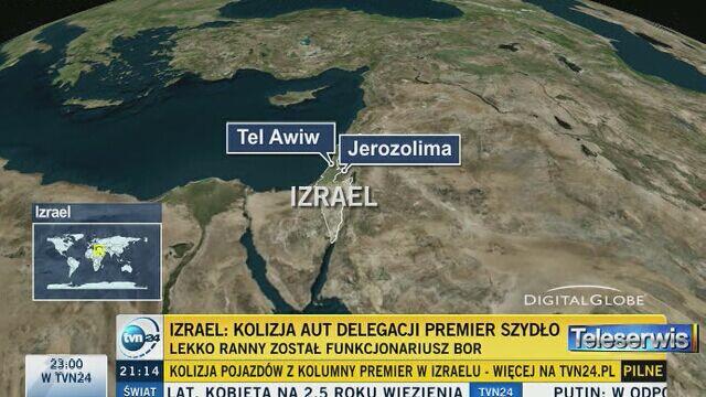 Kolizja pojazdów z kolumny premier Szydło w Izraelu