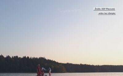 Akcja poszukiwawcza na jeziorze Wigry