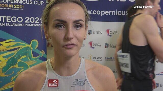 Justyna Święty-Ersetic po mityngu Copernicus Cup