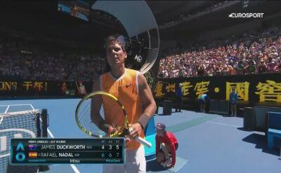 Skrót meczu Duckworth - Nadal w 1. rundzie Australian Open