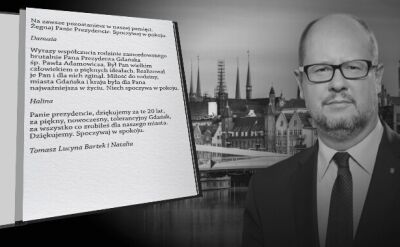 Powstała elektroniczna księga kondolencyjna ku czci prezydenta Gdańska