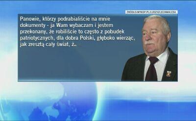 """Wałęsa do """"panów, którzy podrabiali"""""""