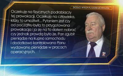 Wałęsa: Pan obiecał że wszystkie te papiery wrócą do mnie a na pewno będą zniszczone