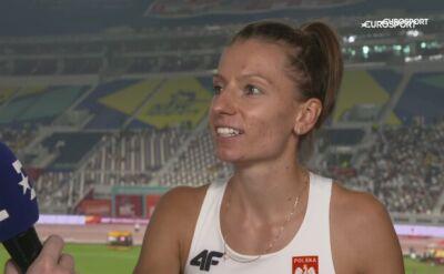 Joanna Linkiewicz po awansie do półfinału 400 m przez płotki