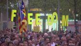 Marsz proniepodległościowy na ulicach Barcelony