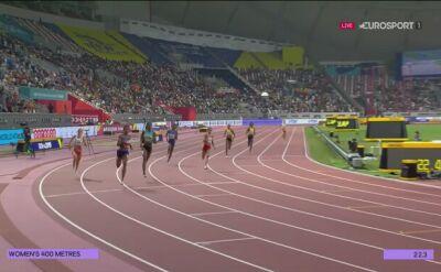 Finał na 400 m kobiet. Polki na dwóch ostatnich miejscach