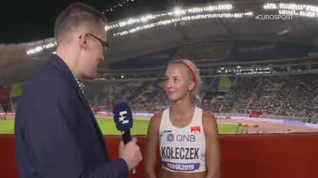 Rozmowa z Karoliną Kołeczek po półfinale na 100 m przez płotki