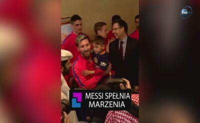 Messi spełnia marzenia