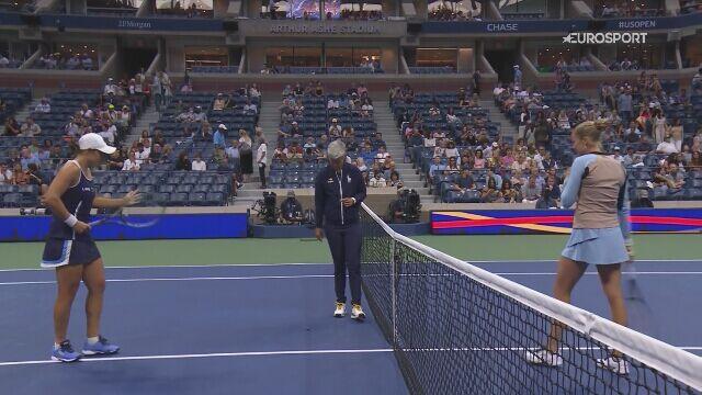 Rogers wyeliminowała Barty w 3. rundzie US Open - skrót meczu