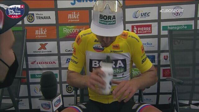 Peter Sagan po zwycięstwie w wyścigu Dookoła Słowacji