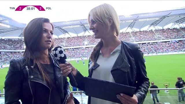 Anna Lewandowska na meczu TVN