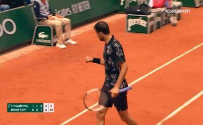 Skrót meczu Tipsarević - Dimitrow w pierwszej rundzie Roland Garros
