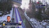 Skok Piotra Żyły z 2. serii konkursu w Tauplitz-Bad Mitterndorf