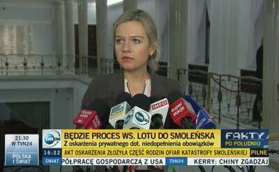 Komentarze do decyzji sądu ws. lotu do smoleńska