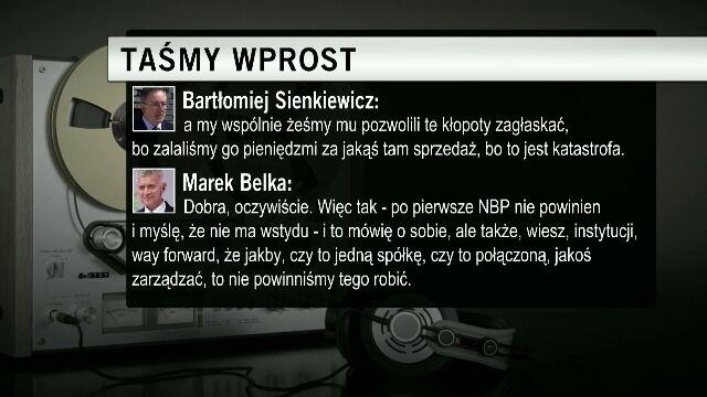 Sienkiewicz i Belka rozmawiają o powołaniu bliżej nieokreślonej spółki