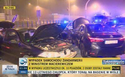 Karambol z udziałem samochodu Macierewicza