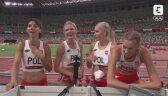 Tokio. Lekkoatletyka: rozmowa z polskimi biegaczkami sztafety 4x400 m