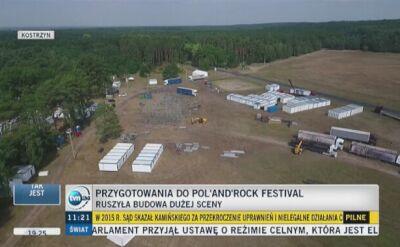 Kostrzyn nad Odrą: trwa budowa sceny na Pol'and'Rock Festiwal