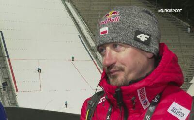 Adam Małysz po kwalifikacjach w Oslo