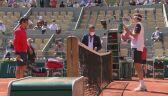 Skrót meczu Roger Federer - Denis Istomin w 1. rundzie Roland Garros