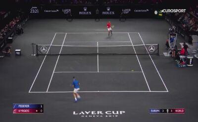 Skrót meczu Federer - Kyrgios w Pucharze Lavera