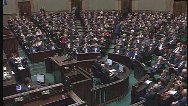 Sejm wybrał wicemarszałków. Przerwa w obradach do jutra