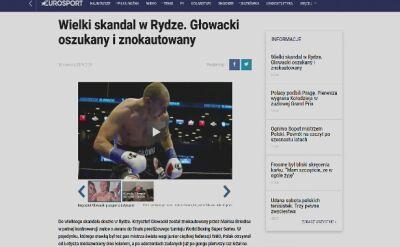 Głowacki znokautowany w Rydze