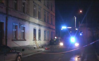 Nocny pożar w Prudniku