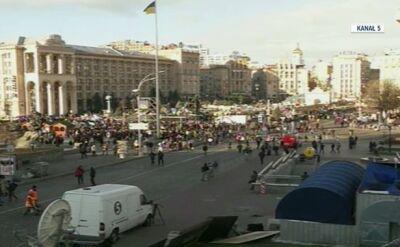 Spokój na Majdanie w poniedziałek rano