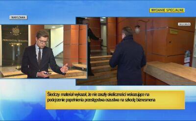 Prokuratura okręgowa w Warszawie: nie zaszły okoliczności wskazujące na podejrzenie popełnienia przestępstwa na szkodę Birgfellnera