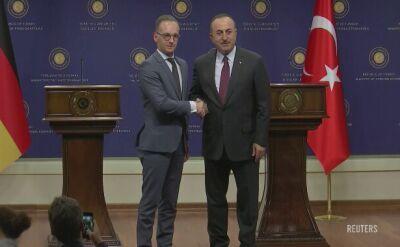 Heiko Maas i Mevlut Cavusoglu spotkali się w Ankarze