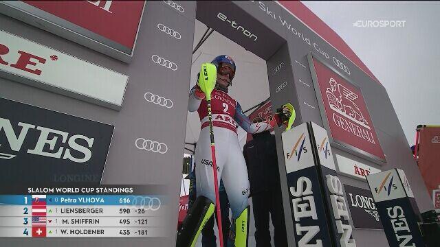 Drugie miejsce Mikaeli Shiffrin w slalomie w Are