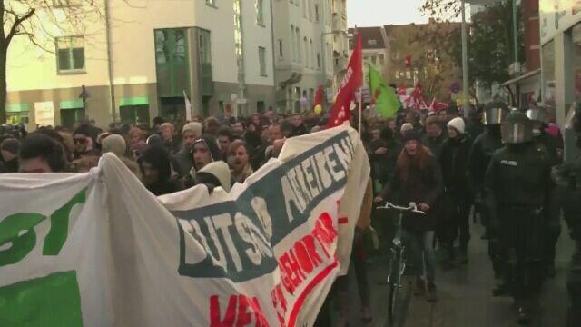 Atak na autobus przewożący imigrantów w Niemczech