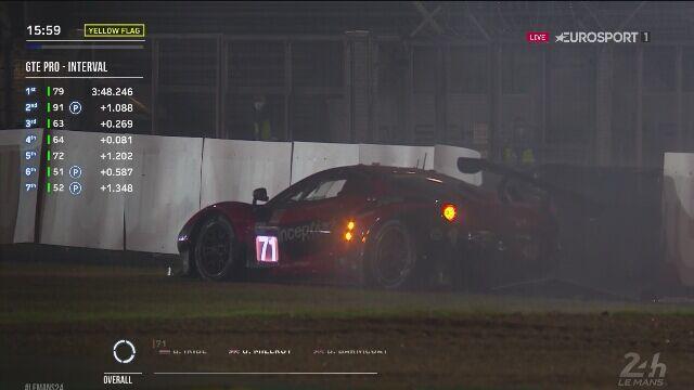 Nocny trening przed 24H Le Mans zakończony przedwcześnie po wypadku Ferrari