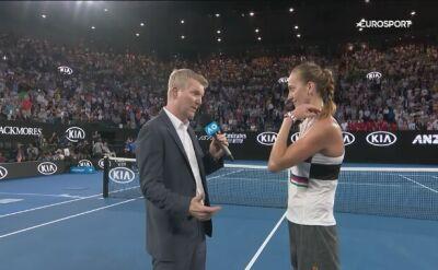 Petra Kvitova skomentowała awans do półfinału Australian Open