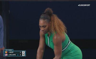 Serena Williams w ekspresowym tempie wygrała 1. seta w starciu z Simoną Halep