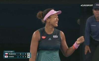 Skrót meczu Osaka - Kvitova w półfinale Australian Open
