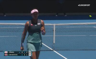 Skrót meczu Osaka - Sevastova w 4. rundzie Australian Open