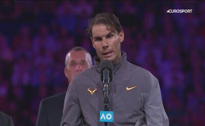 Rafa Nadal po finale Australian Open