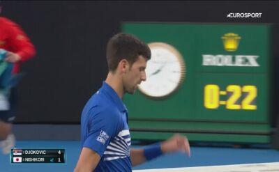 Skrót meczu Djokovic - Nishikori w ćwierćfinale Australian Open