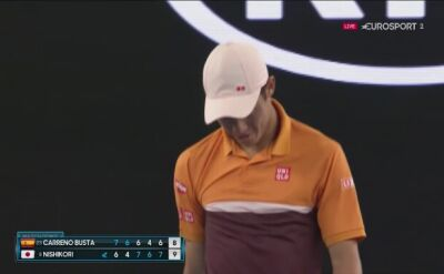 Ostatnia piłka meczu Carreno-Busta - Nishikori w 4. rundzie Australian Open