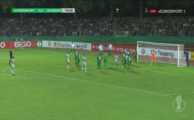 Szczęśliwy gol Schalke w Schweinfurcie