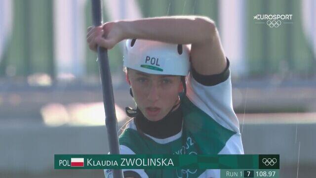 Tokio. Klaudia Zwolińska zajęła 12. miejsce w slalomie kajakowym w eliminacjach