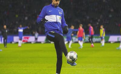 Krzysztof Piątek w meczu Hertha Berlin - Schalke 04