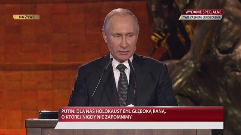 Przemówienie Władimira Putina w Jad Waszem