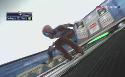 Skok Dawida Kubackiego w 2. serii konkursu w Garmisch-Partenkirchen