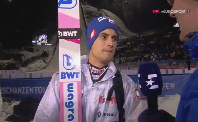 Maciej Kot po konkursie w Bischofshofen