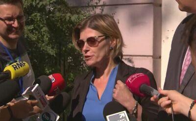 Sędzia Ewa Maciejewska po wyjściu z przesłuchania