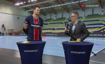 Rozmowa z Kamilem Syprzakiem po meczu Łomża Vive Kielce - PSG